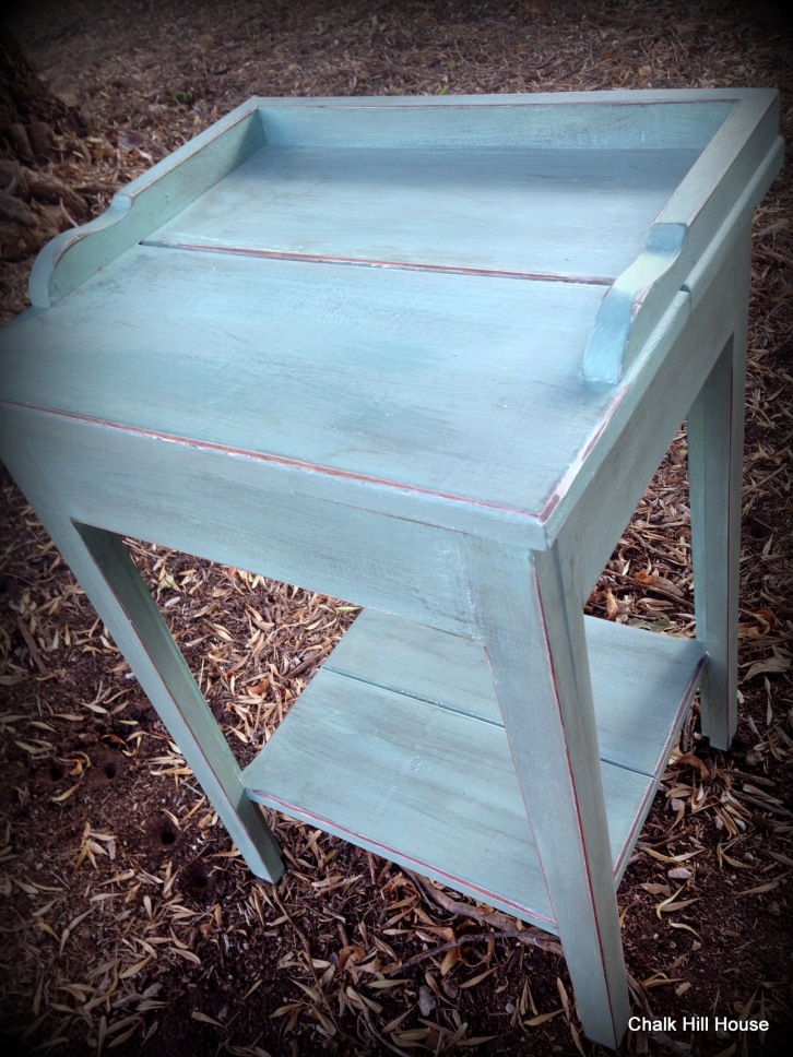 Vintage Chalk Painted Bedside Table