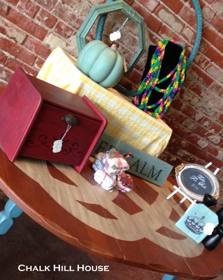 antiques alley chalk hill house geometric design farm table craft fair