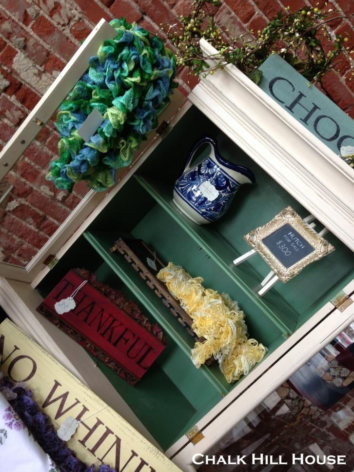 antiques alley chalk paint art deco kitchen hutch craft fair