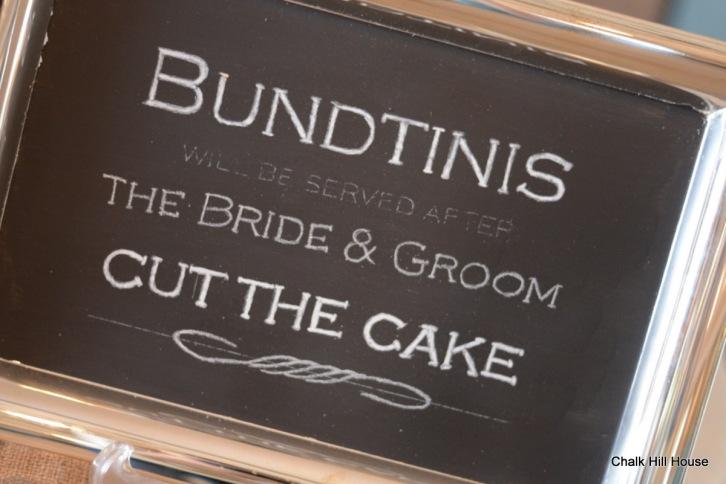 Chalk Hill House chalkboard sign wedding silver tray