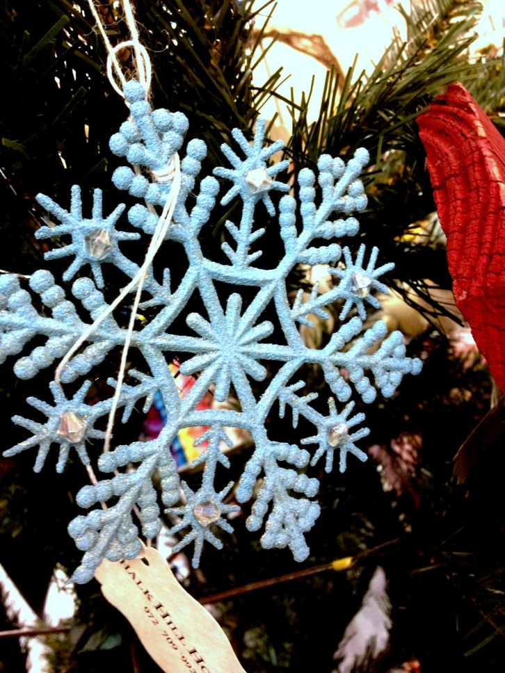 chalk hill house tiffany blue snowflake turquoise christmas ornament decoration