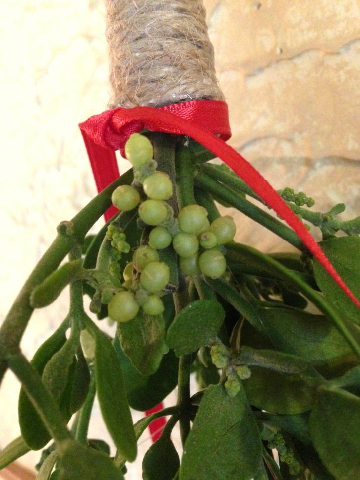 chalkhillhouse mistletoe hemp-wrapped christmas decor